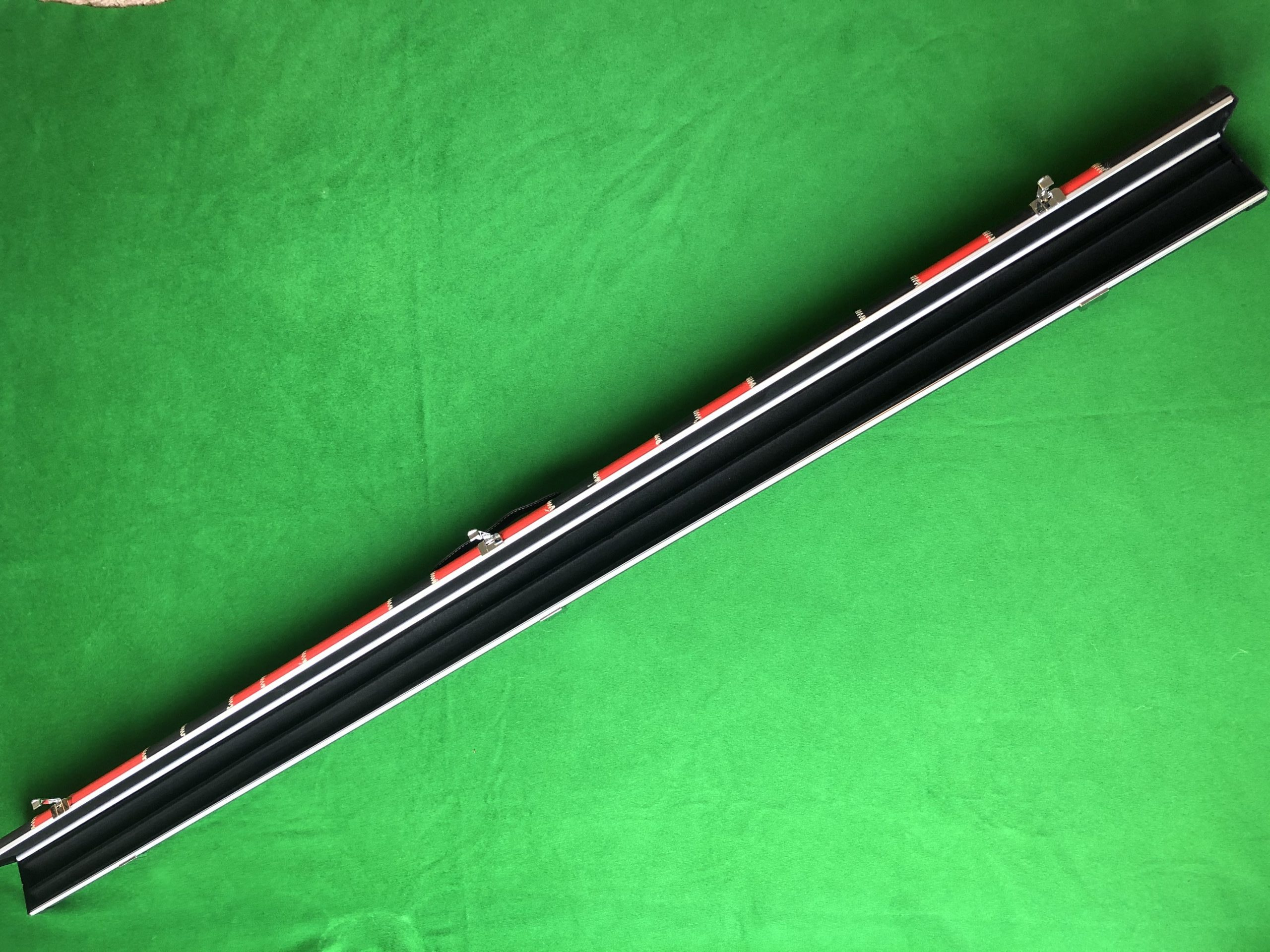 Black and Blue three quarter Halo Type Cue Case