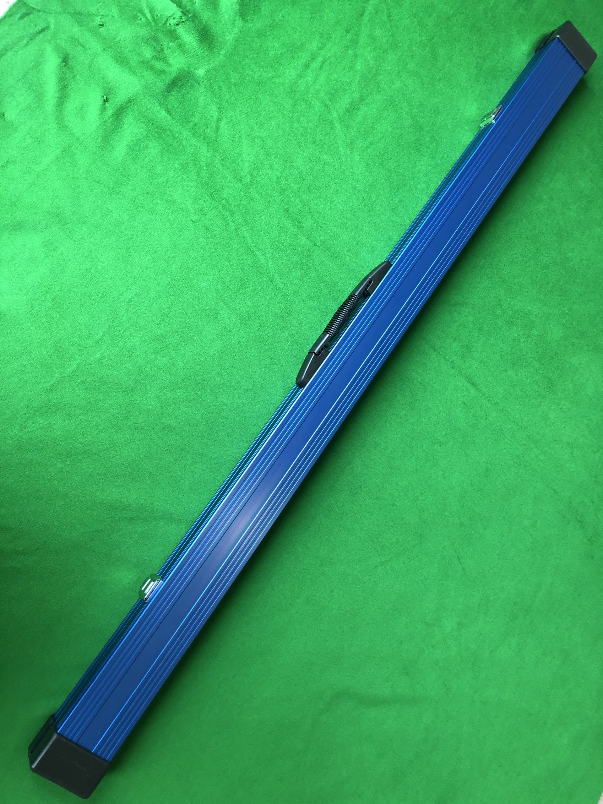 Three Quarter Blue Aluminium Cue Case
