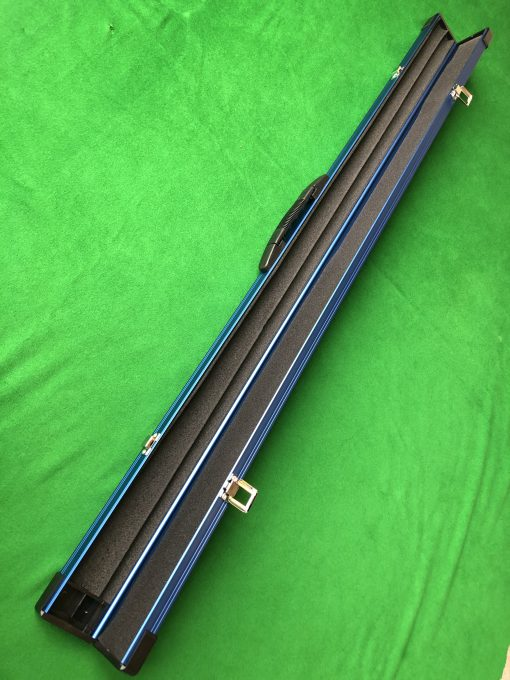 Three Quarter Blue Aluminium Cue Case 3