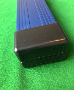 Three Quarter Blue Aluminium Cue Case 4