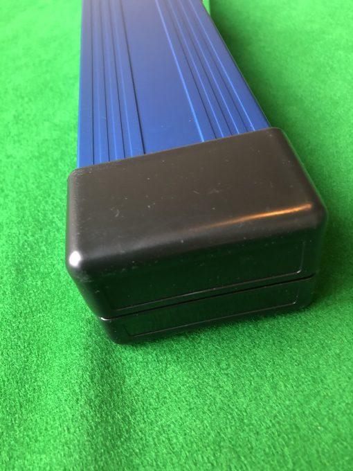 Three Quarter Blue Aluminium Cue Case 4