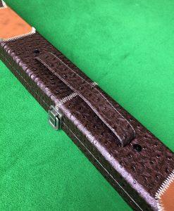 Three Quarter Brown Patchwork Cue Case 1
