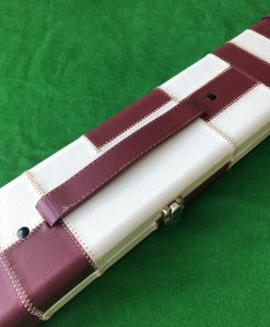 Three Quarter Burgundy - Cream Cue Case - Extra Wide 6607-1 2