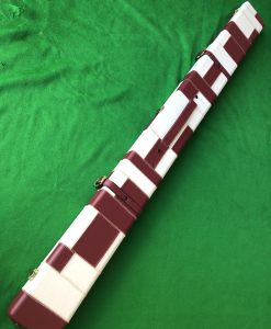 Three Quarter Burgundy - Cream Cue Case - Extra Wide 6607-4 2