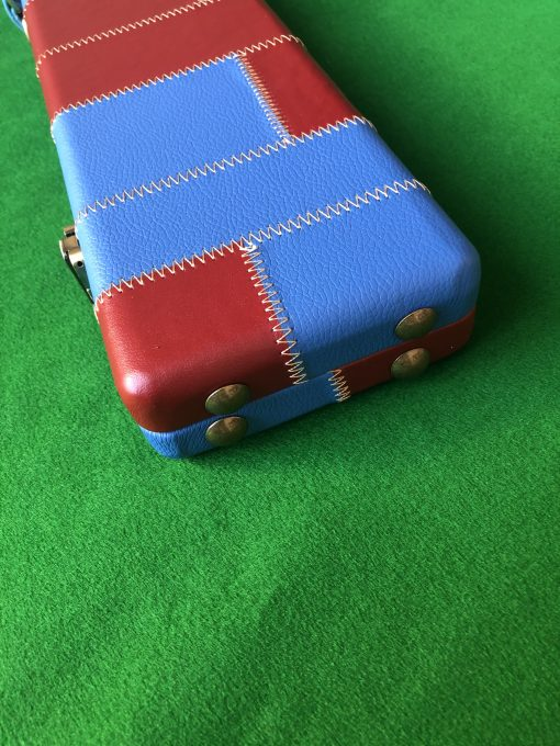 Three Quarter Claret-Blue Cue Case - Extra Wide 6102 - 4