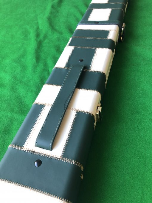 Three Quarter Green - Cream Cue Case - Extra Wide 6607 1