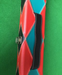 Three Quarter Green and Red Diamond Cue Case 2