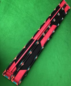 Three Quarter Green and Red Diamond Cue Case 4