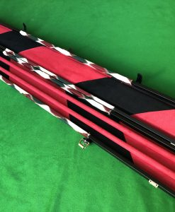Three Quarter High Quality Cue Case - Extra Wide WD2 Red 1 4