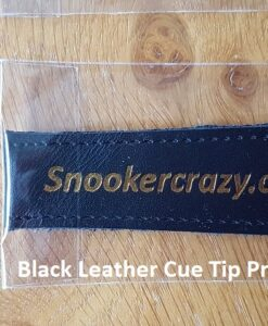 Black Leather Cue Tip Protector
