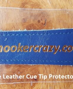 Blue Leather Cue Tip Protector
