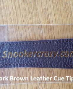 Dark Brown Leather Cue Tip Protector