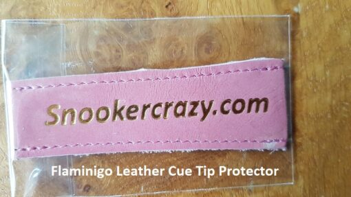 Flamingo Leather Cue Tip Protector
