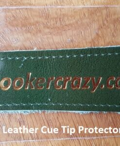 Green Leather Cue Tip Protector
