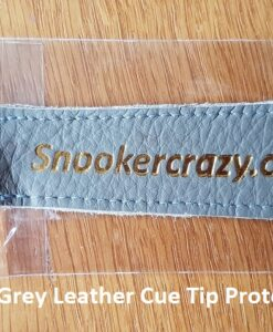Grey Leather Cue Tip Protector