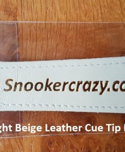 Light Beige Leather Cue Tip Protector