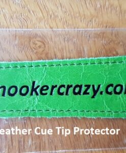 Lime Leather Cue Tip Protector