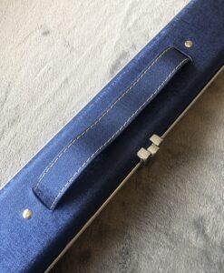 1 piece aluminium 2 channel metallic blue cue case 1